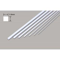 Plastruct Square Microrod - 1.5 x 1.5 x 250mm (W-PMS-60)