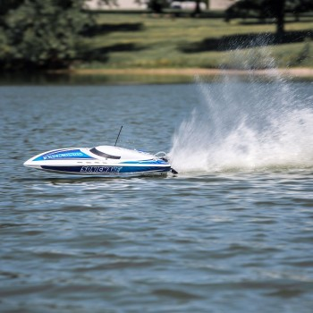 ProBoat Sonicwake 36in Self-Righting Brushless Deep-V White(B-PRB08032T1)