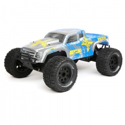 ECX 1/10 2wd Ruckus MT BD,Lipo: Silver/Blue RTR INT (C-ECX03331IT1)