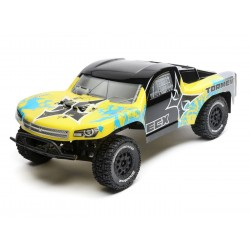 ECX 1/10 2wd Torment SCT BD, Lipo: Yellow/Blue RTR INT (C-ECX03333IT2)
