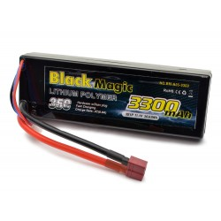 Black Magic 3300mAh 11.1V 3S1P 35C  Hardcase Deans Connector (O-BM35-3303T)