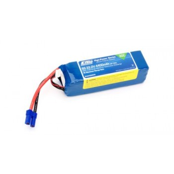 E-Flite 4400mAh 6S 22.2V 30C LiPo, 10AWG EC5 (O-EFLB44006S30)