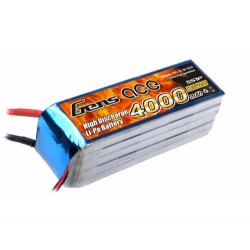 Gens Ace Li-Po 5S 18.5V 4000mAh 25C with EC5 (O-G5S4000-25E5)