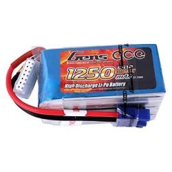 Gens Ace Li-Po 6S 22.2V 1250mAh 60C with EC3 (O-G6S1250-60E3)