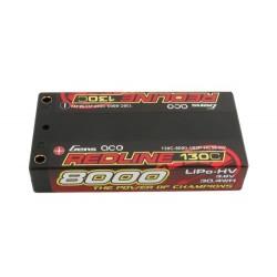 GENSACE Li-Po HV Car Hard Case 1S2P 3.8V 8000mAh 130C RL Short 4mm (O-GC1H8000S-130G4)
