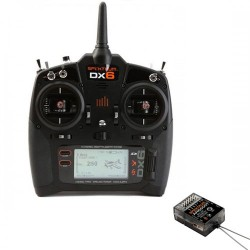 SPEKTRUM DX6 G3 6-CH DSMX Transmitter w/AR6600T RX MD2 (P-SPM6755EU) with AA Batteries