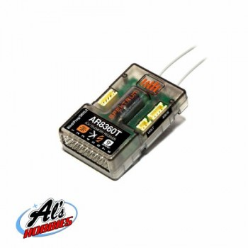 SPEKTRUM AR8360T 8 Channel SAFE & AS3X Telemetry Receiver (P-SPMAR8360T)
