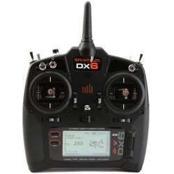 Spektrum DX6 Transmitter Only Mode 2 EU (P-SPMR6750EU) with AA Batteries