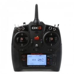 SPEKTRUM DX8 Transmitter Only Mode 2 EU (P-SPMR8000EU) with Battery and Charger