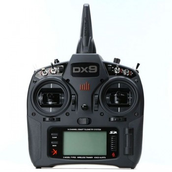 Spektrum DX9 Black Transmitter Only MD2 EU (P-SPMR9910EU) with Li-Ion Battery and Charger